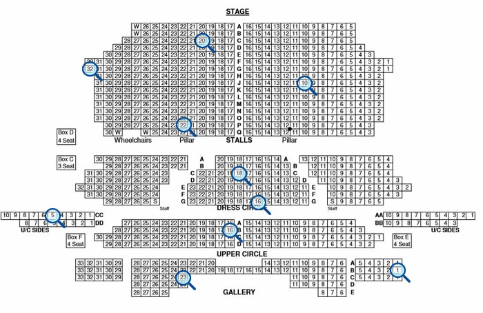 Pin Seating Plan Venue Hall Clyde Auditorium Secc Glasgow